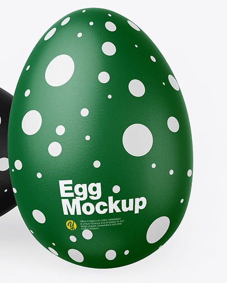 Two Textured Eggs Mockup