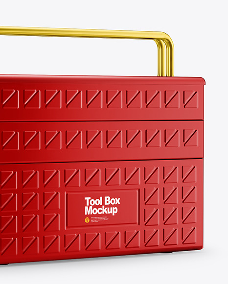 Tool Box Mockup - Half Side View