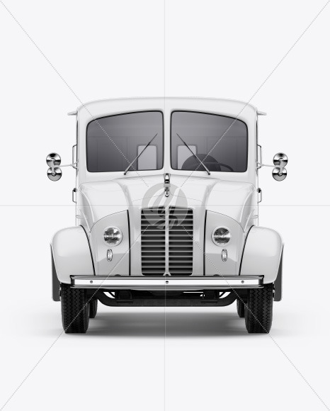 Delivery Truck Mockup - Front View - Yellowimages Mockups