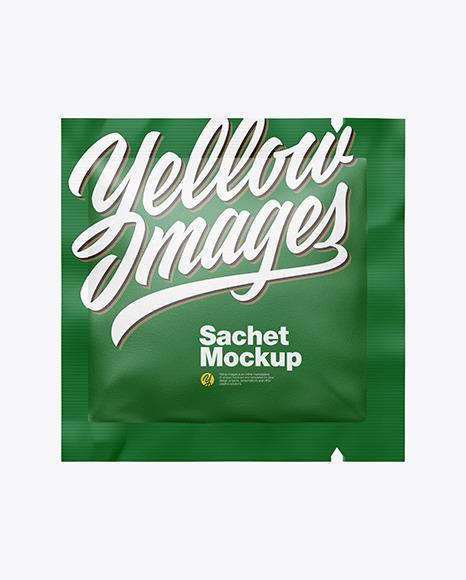 Textured Square Sachet Mockup
