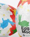 Two Eggs in Metallic Foil Mockup