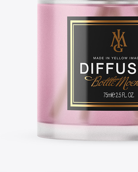 Frosted Glass Diffuser Bottle Mockup