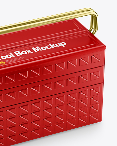 Tool Box Mockup - Half Side View