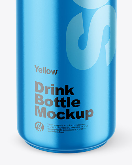 Metallic Drink Bottle Mockup
