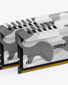 Two Modules of DDR4 RAM Mockup