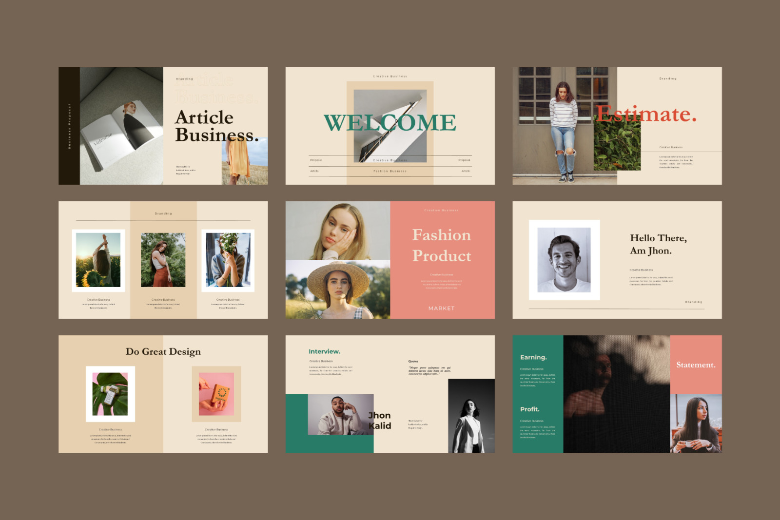 Article Powerpoint Template