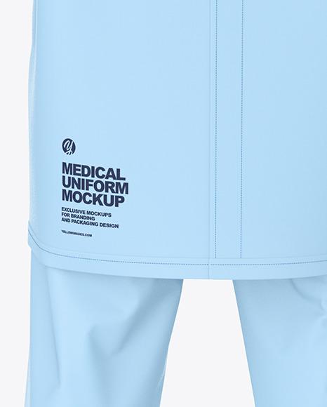 Medical Uniform Mockup – Back View