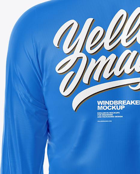 Windbreaker Mockup – Back View
