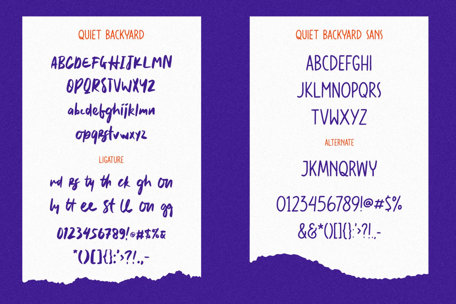Quiet Backyard Font Duo