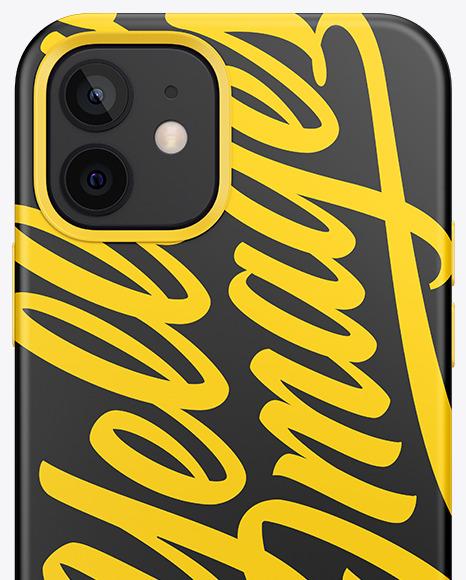 IPhone 12 Matte Case Mockup