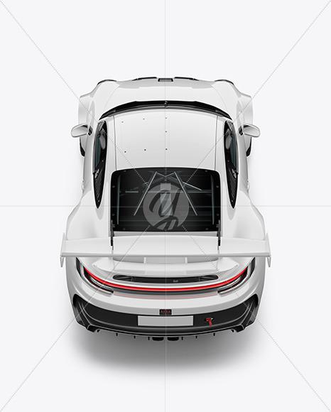 Sport Car Mockup - Back View (High-Angle-Shot) - Yellowimages Mockups