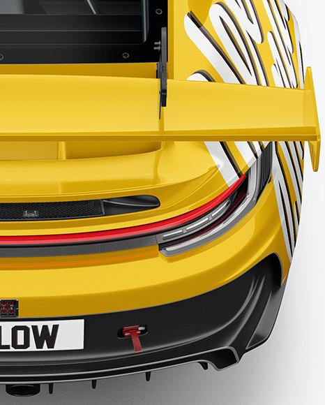 Sport Car Mockup - Back View (High-Angle-Shot)