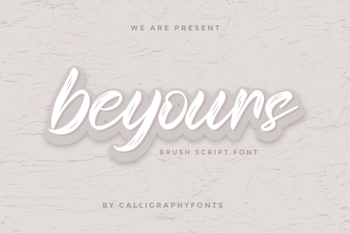 Beyours Calligraphy Font