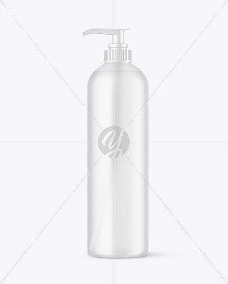 Frosted Cosmetic Bottle w/ Pump Mockup