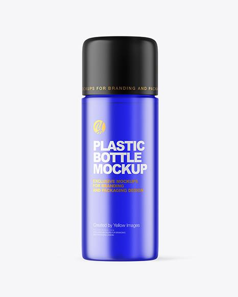 Frosted Color Plastic Bottle Mockup
