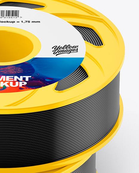 Two Plastic Filament Spool Mockup