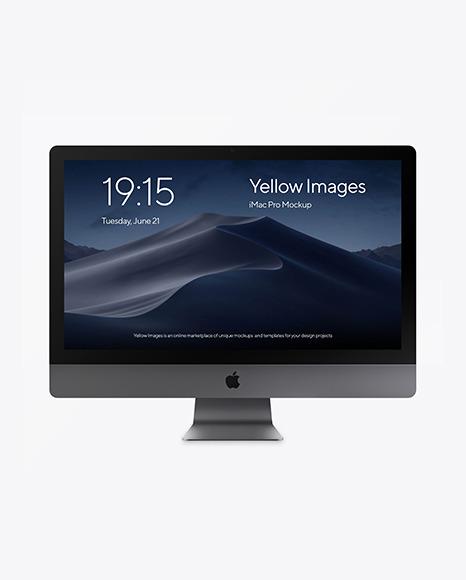 iMac Pro Space Gray Mockup