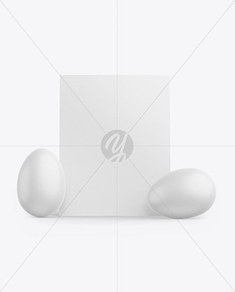 Card w/ Two Textured Eggs Mockup