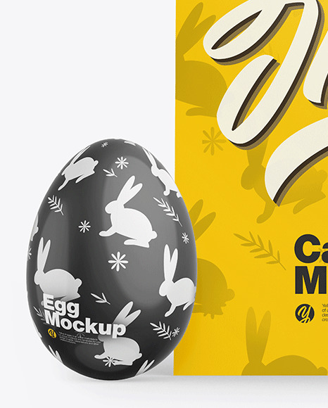 Card w/ Two Glossy Eggs Mockup
