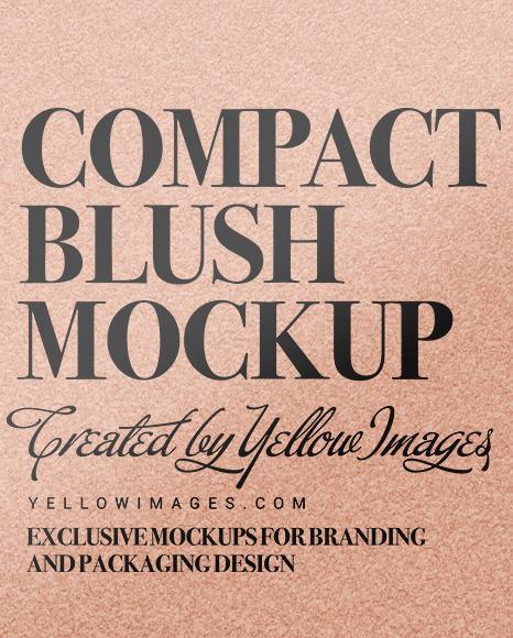 Cosmetic Blush Mockup