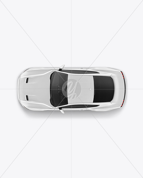 Muscle Car Mockup - Top View - Yellowimages Mockups