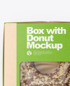 Kraft Box with Donut Mockup