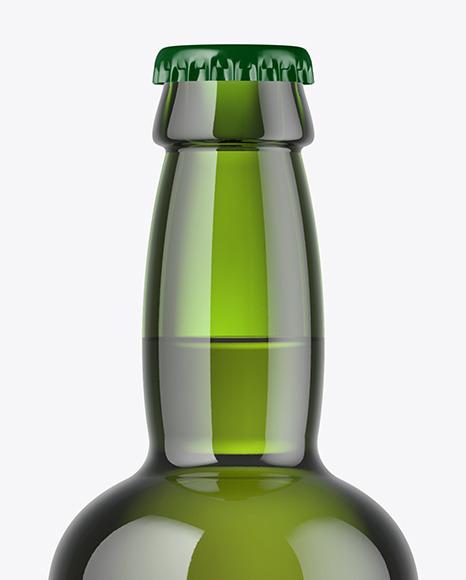 330ml Green Glass Beer Bottle Mockup