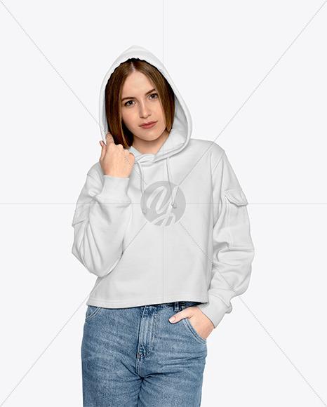 Girl in a Hoodie Mockup