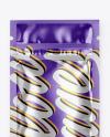 Metallic Sachet w/ Zipper Mockup