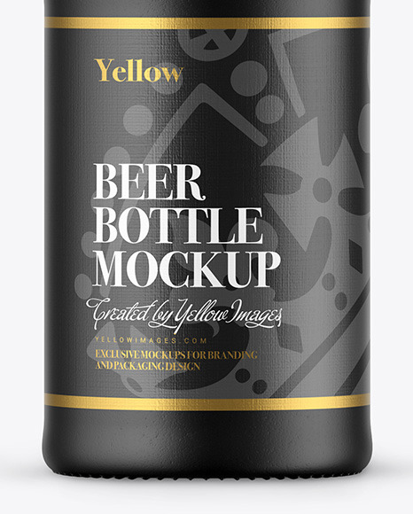330ml Ceramic Beer Bottle Mockup