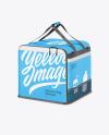 Polyester Delivery Bag Mockup