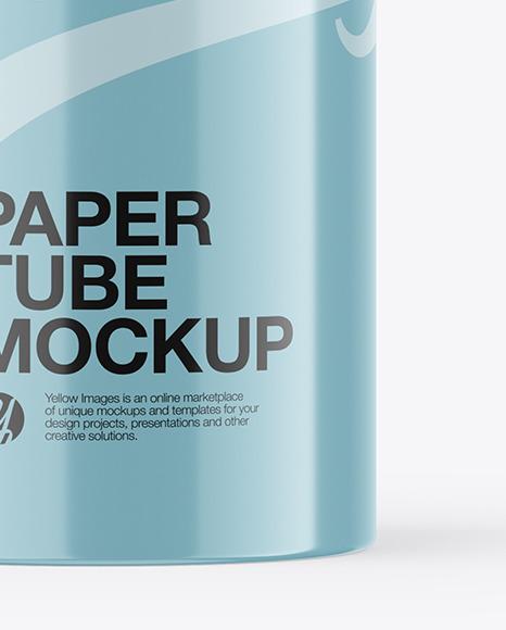 Glossy Paper Tube Mockup