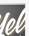 Metallic Roll-up Banner Mockup