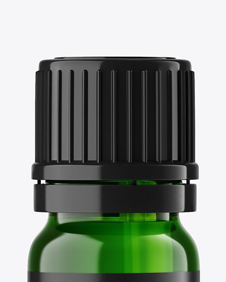 Green Glass Dropper Bottle Mockup