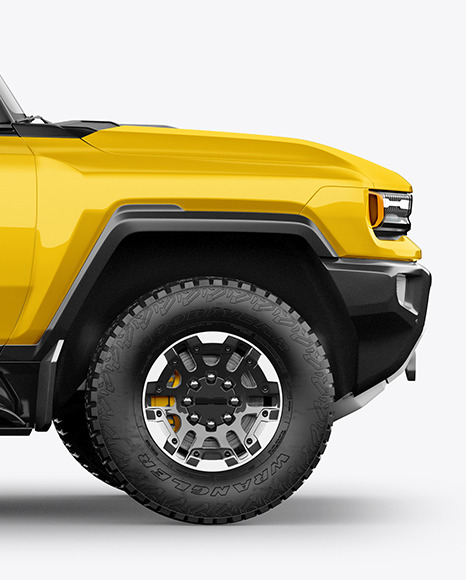 Electric Pickup Truck Mockup  - Side View