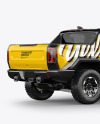 Electric Pickup Truck Mockup - Back Half Side View