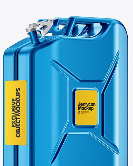 Metallic Fuel Jerrycan - Half Side View