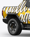 Electric Pickup Truck Mockup - Half Side View
