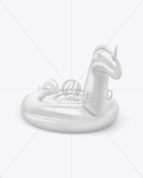 Inflatable Swimming Unicorn Mockup
