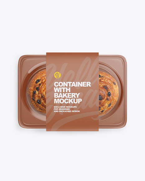 Container with Bakery Mockup