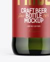500ml Green Glass Beer Bottle Mockup