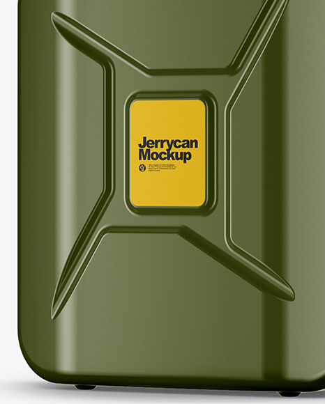 Fuel Jerrycan - Half Side View