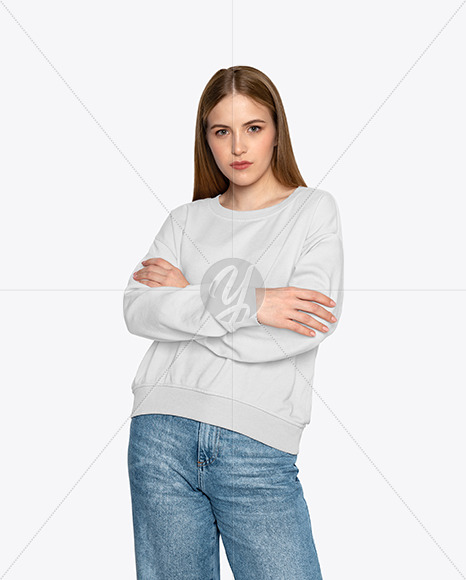 Girl in a Sweatshirt Mockup