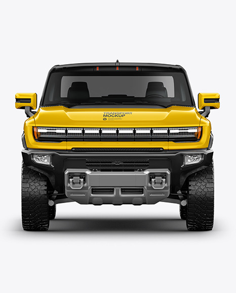 Electric Pickup Truck Mockup - Front View