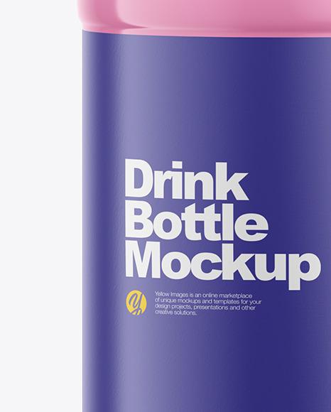 500ml Glossy Plastic Drink Bottle Mockup