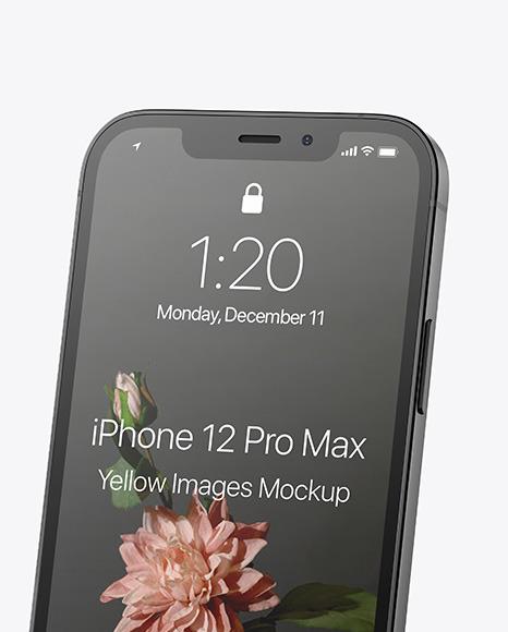 Apple iPhone 12 Pro Max Graphite Mockup