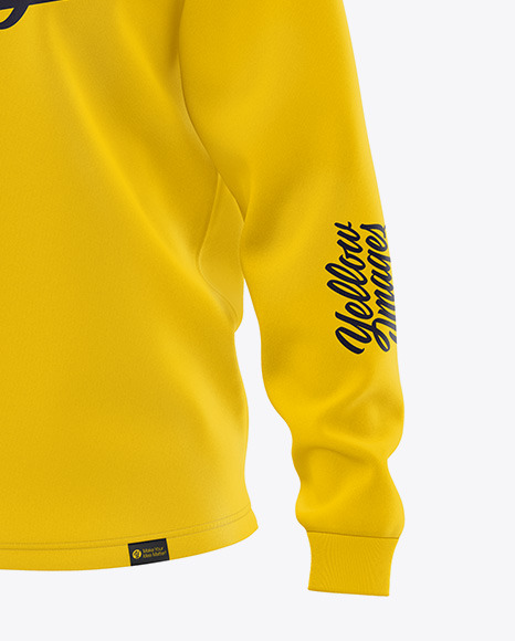 Women's Long Sleeve Sweatshirt - Front Half Side View