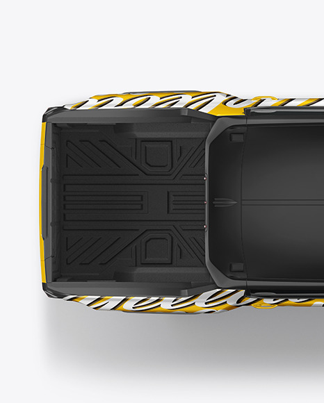 Electric Pickup Truck Mockup - Top View