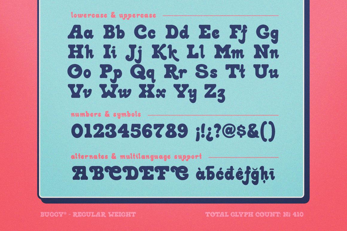 Buggy Retro Font