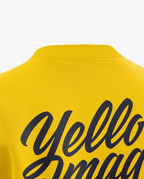 Women's Long Sleeve Sweatshirt - Back Half Side View